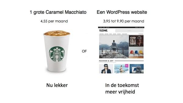 Kosten van een eigen websiet