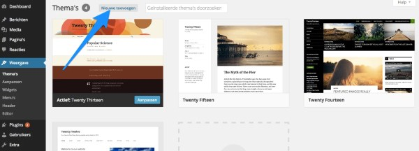 Thema_s_beheren_‹_—_WordPress