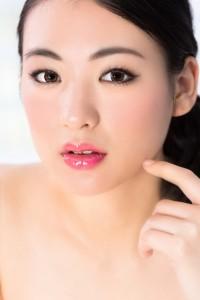 化粧した女性