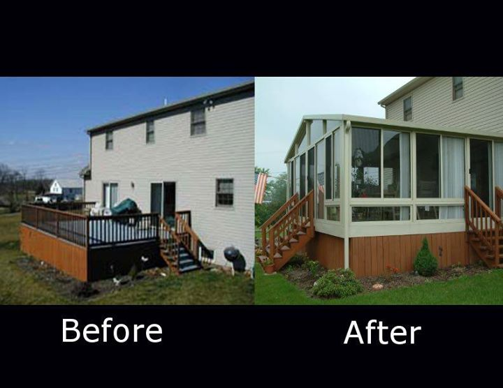 SUNROOM BEFORE AND AFTER PICTURES BY BETTERLIVING SUNROOM & AWNINGS OF PITTSBURGH