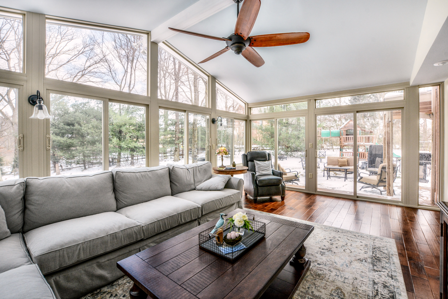 Interior View of All Season Sunroom