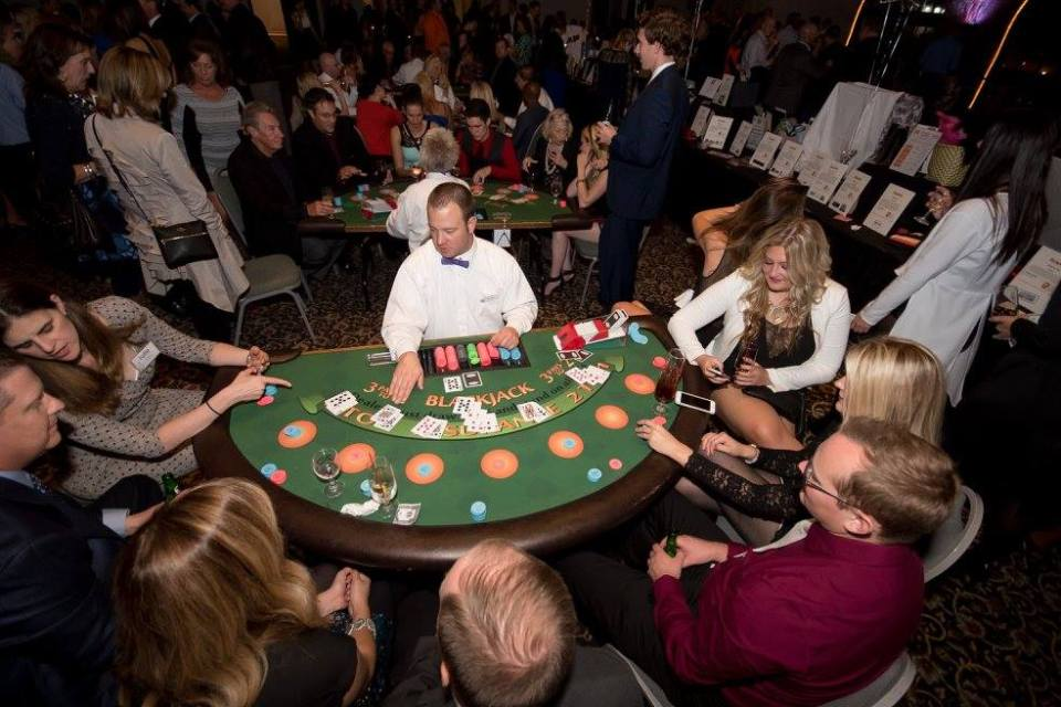 Blackjack table.