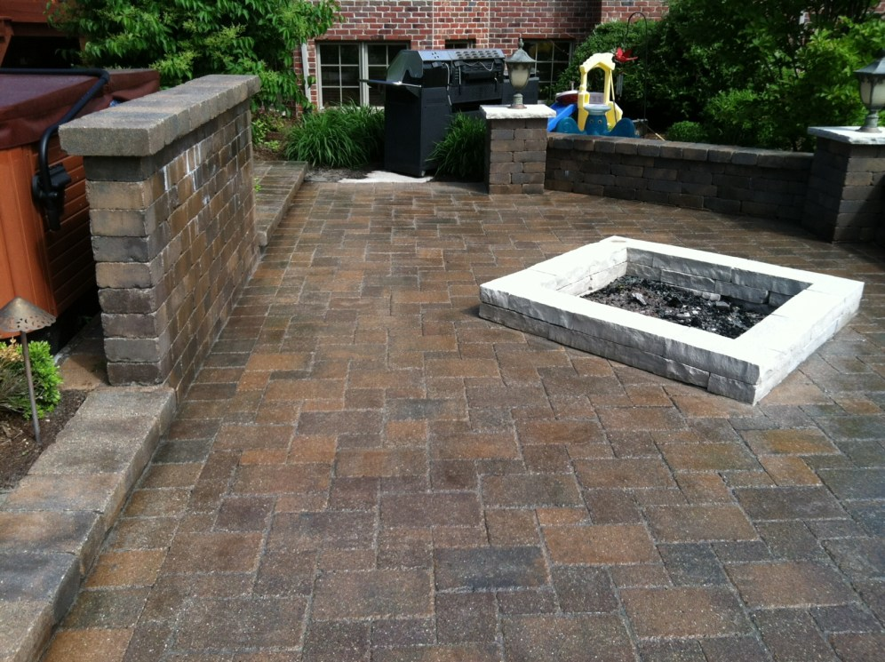 After Photo of Stone Patio with Fire Pit