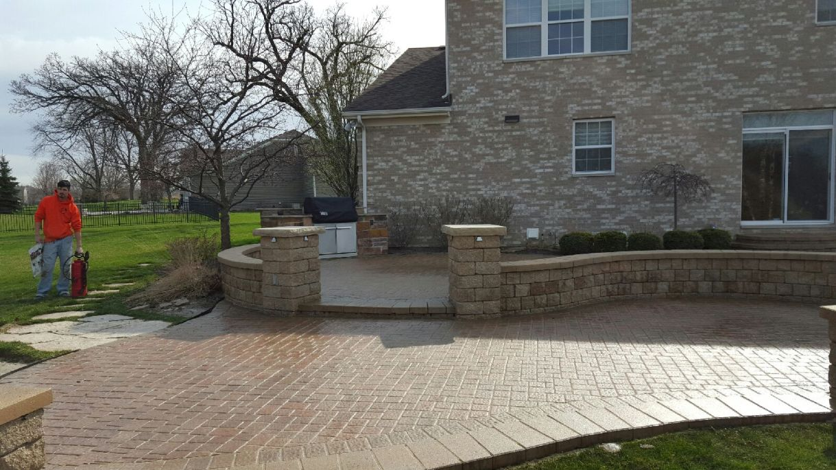 After Photo of Stone Entrance Way