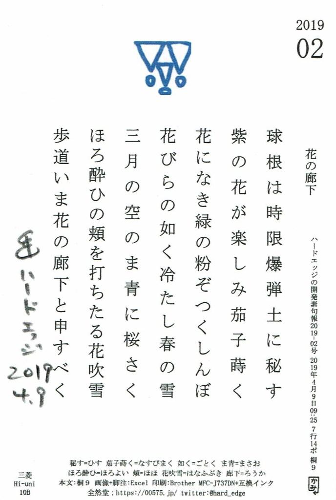 開発素句報 2019-02