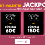 Bon plan FNAC : JackPot Bonus St-Valentin + CashBack