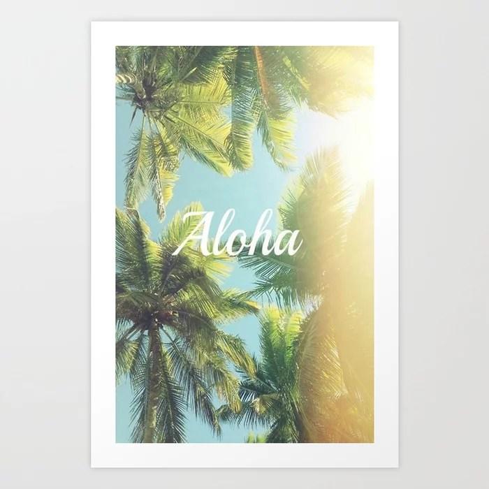 Sunday's Society6 - Aloha palm trees art print