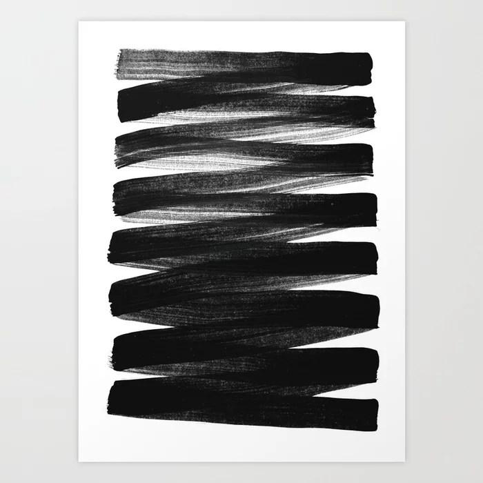 Sunday's Society6 | Black and white painting stripes art print