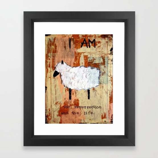 Easter Lamb Framed Art Print