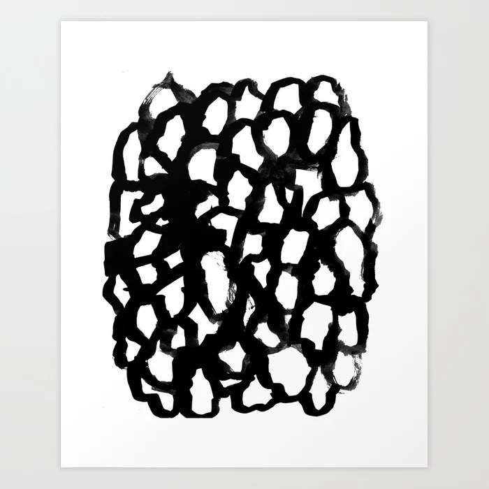 Sunday's Society6 | Black and white painting art print