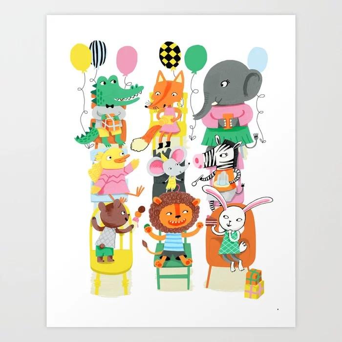 Sunday's Society6 children animal party