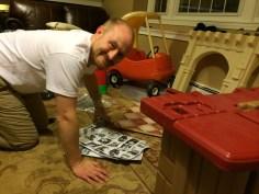 assembling the kitchen...