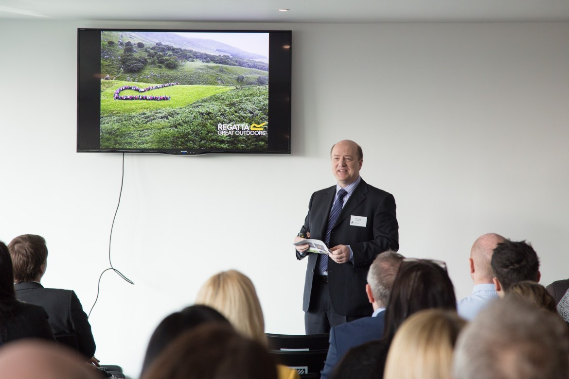 Regatta CEO Keith Black Speaks at hotel Football Corporate Event Photography
