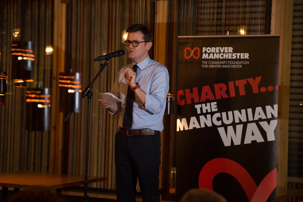 Speaker at Forever Manchester Reset Charity Event Photography Spinningfield