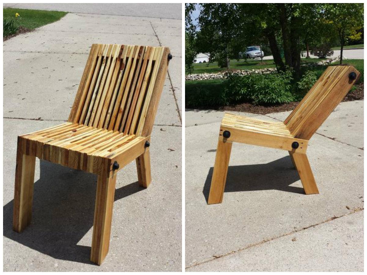 diy chaise en palette art deco