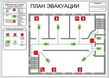 изготовление плана эвакуации при пожаре