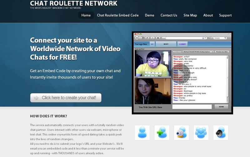 Chatroulette gratuit pour webmasters