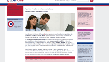 OpenCms : CMS open source écrit en Java