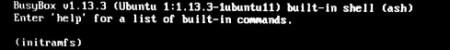 Problème avec BusyBox v1.13.3 initramfs