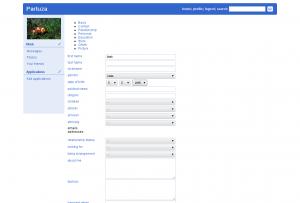 Page de profil - Réseau social