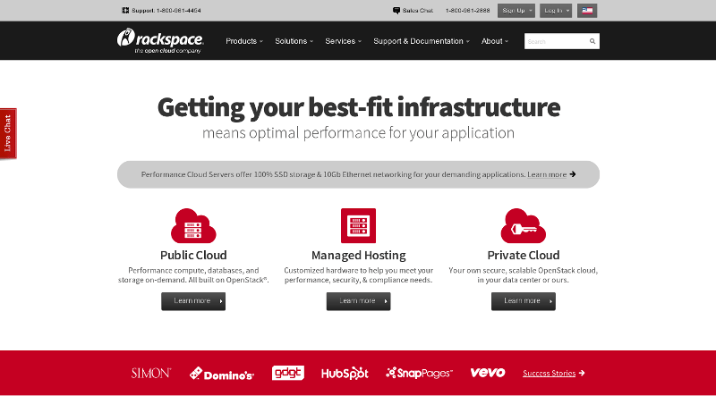 Hebergement Cloud avec RackSpace