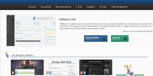 PHPBoost, CMS français open source, gratuit