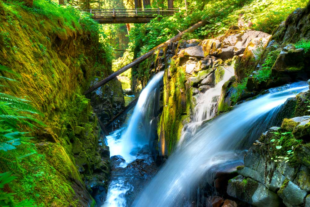 spring waterfall hikes sol duc falls