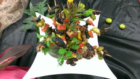 刺蔥野味蔬果串 (2)