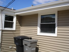 After siding soffit facia gutters