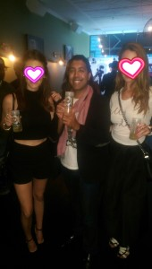 PR girls promoting Maven Cocktails