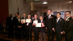 The Taiwanese ambassador with WWII veterans
