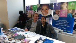 with Fabrice Jaumon at the Bilingual Education Fair, Hunter College