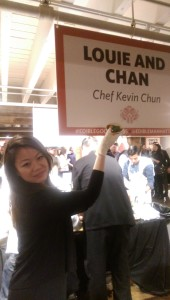Louie & Chan serving the dish of the evening. I would be proud too.