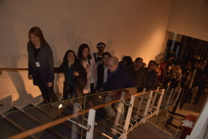 One of several free tours of the Kamakura exhibit that evening.