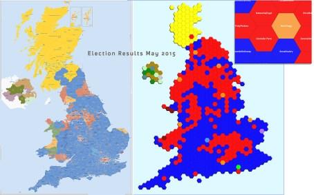 map, cartogram, UK, thematic