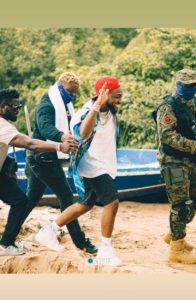 DMW Honcho Davido Steps Out In Style With His Security Men To Lagos Island Beach (Photos)