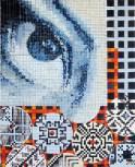 """autor: Alina Manole titlu: """"Looking to the past"""" tehnica: acrilic/panza dimensiune: 40/50 cm"""