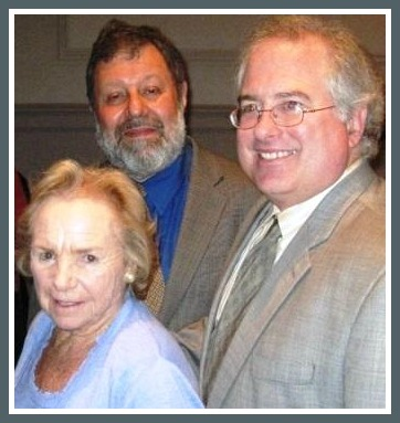 Ethel Kennedy, Larry Shore and John Suggs, at the RFK film's screening in Washington.