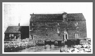 The original grist mill. It -- and several others that followed -- burned to the ground.