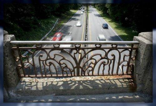 The Merritt Parkway North Avenue bridge -- before reconstruction.