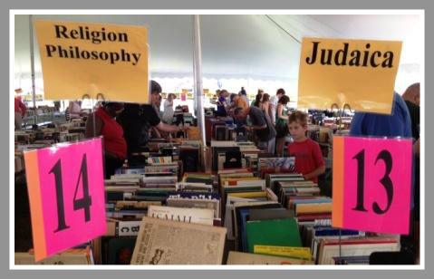 You can get just about anything at the Westport Library's book sale. Except a box-reserved space on line.