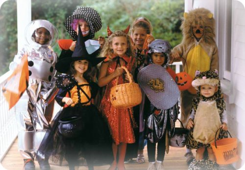 Long ago, children dressed up in costumes on Halloween, and went door to door asking for candy -- in their own neighborhoods. Those were the days!