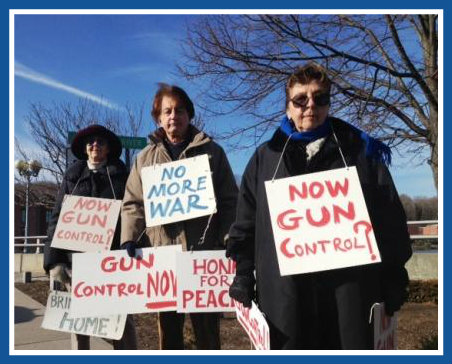 Ruth Steinkraus Bridge, Westport CT - gun control