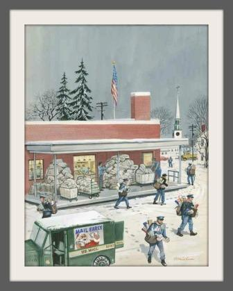 """Stevan Dohanos' """"Christmas in Westport"""" is one of many local works in the Permanent Arts Collection."""