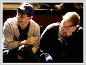 "Ben Pasek (left) and Justin Paul, deep into their ""24-Hour Musical."" (Photo by Kerry Long)"