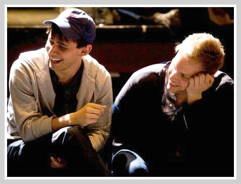 Ben Pasek (left) and Justin Paul, deep into their