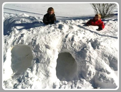 Terry Brannigan spent hours blowing snow. Then his boys turned it into a fort.