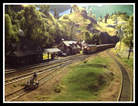 She'll be comin' 'round the mountain, on Jake Sussman's model train layout.