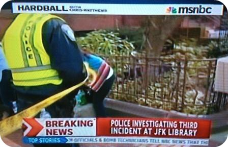 "A shot of MSNBC's ""Hardball,"" during Jeff Clachko's interview."