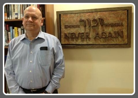 Rabbi Robert Orkand, in the Temple Israel library.